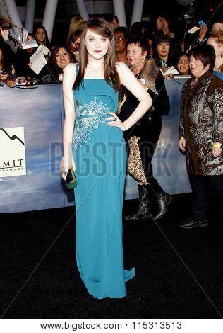 Dakota Fanning at the Los Angeles Premiere of