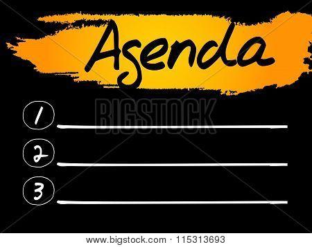 Agenda Blank List