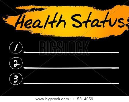 Health Status Blank List