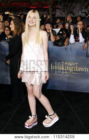 Elle Fanning at the Los Angeles Premiere of