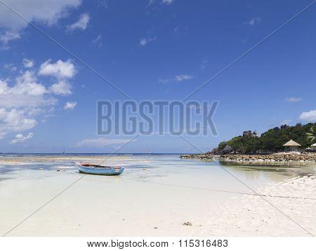 Boat Near The Island Of La Digue
