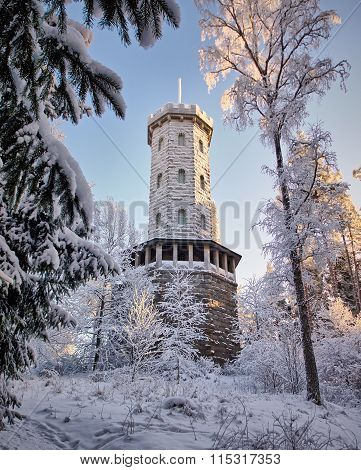 Lookout Tower In The Winter