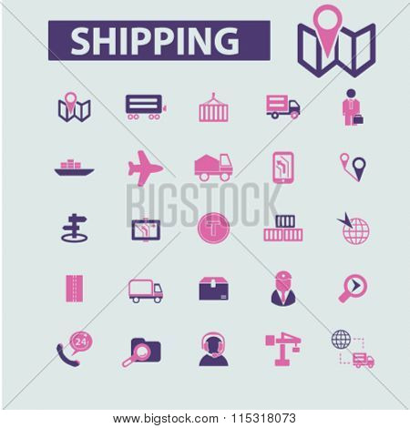 Shipping icons, delivery icons, shipping, delivery, delivery services, delivery concept, logistics  icons, signs vector concept set for infographics, mobile, website, application
