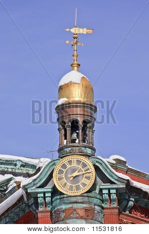Sun Trust Building Cupola Weather Vane 15Th Avenue New York Avenue After The Snow Washington Dc