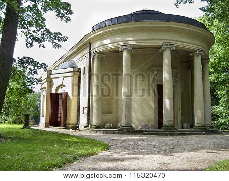 Temple of Diana in a park in Arkadia near Lowicz, Poland