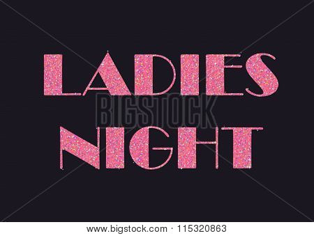 Sparkling pink glitter stylized fancy text for flier or banner, typography design. Can be used to ad