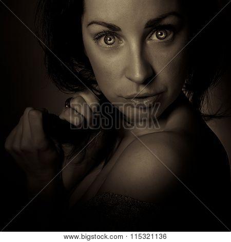 Horror Emotion Dark Girl Face