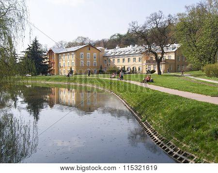 Sanatorium in the spa park - Naleczow, Poland