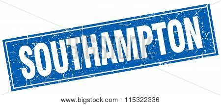 Southampton blue square grunge vintage isolated stamp