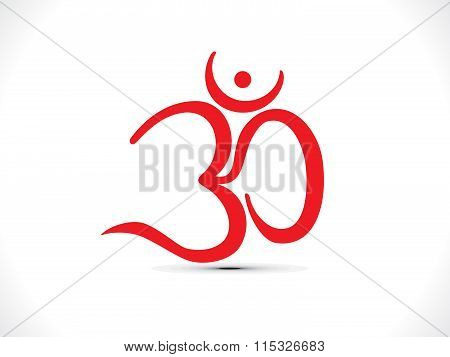 Abstract Artistic Religious Om