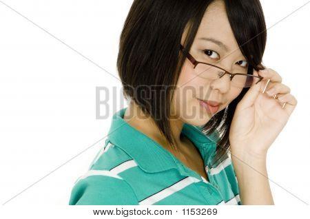 Chica de gafas