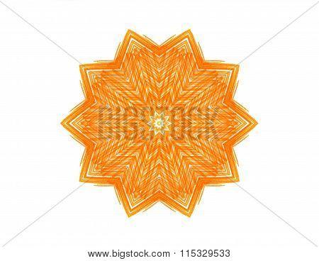 Abstract Orange Star Shape
