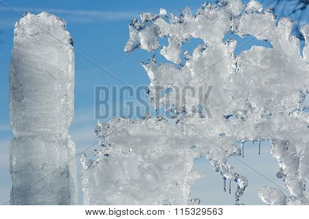 Sunshiny Melting Ice Figure.