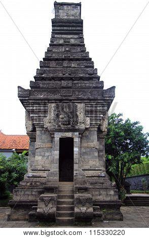 miniature of hinduistic temple in park Taman mini Indonesia