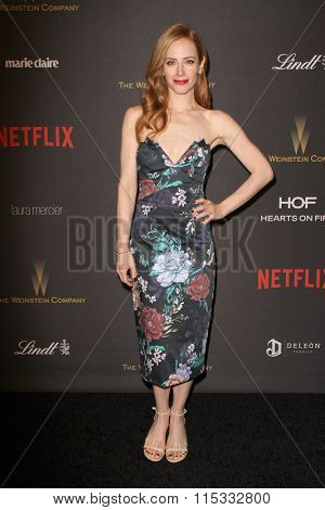 BEVERLY HILLS, CA - JAN. 10: Jaime Ray Newman arrives at the Weinstein Company and Netflix 2016 Golden Globes After Party on Sunday, January 10, 2016 at the Beverly Hilton Hotel in Beverly Hills, CA.