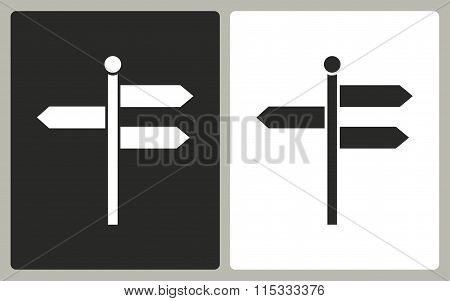 Signpost - Vector Icon.