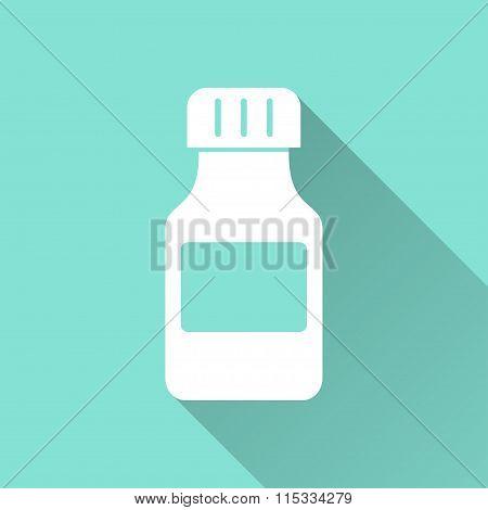 Medicine Bottle - Vector Icon.
