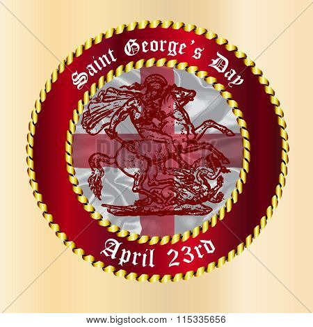 Saint Georges Day Button