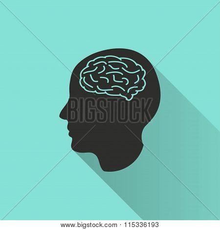 Brain - Vector Icon.