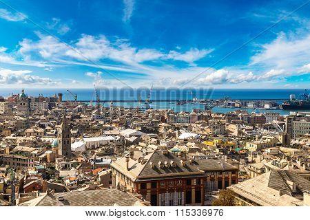 Port Of Genova In Italy