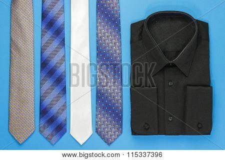 Black man shirt with ties