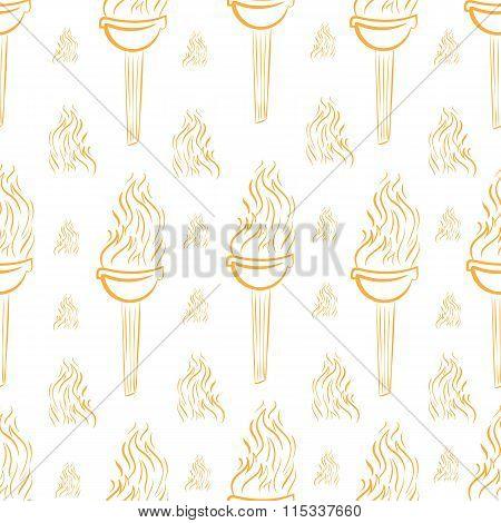 Seamless orange torch