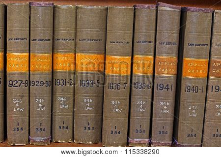 LIVERPOOL UK 6TH JAN 2016  Old Volume Of Law Reports Appeal Cases