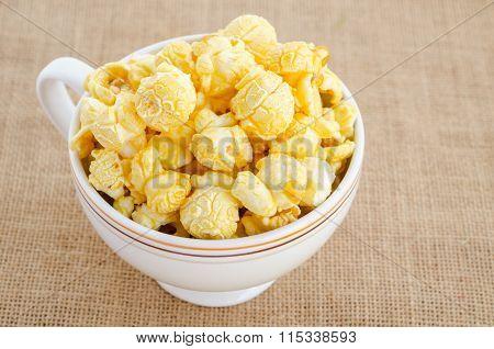 Homemade Kettle Corn Popcorn.