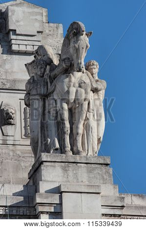 Statue Of Central Railway Station, Milan