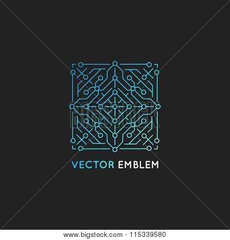 Vector Abstract Technology Logo Design Template
