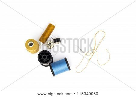 Thread And Reel On The White Background.cut For Isolated.