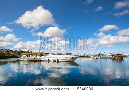 The Harbor In A Small Swedish Town, Sweden
