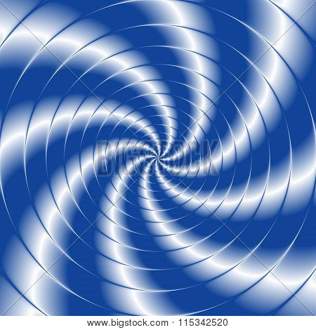 Abstract Twisted Background With Circles In Blue