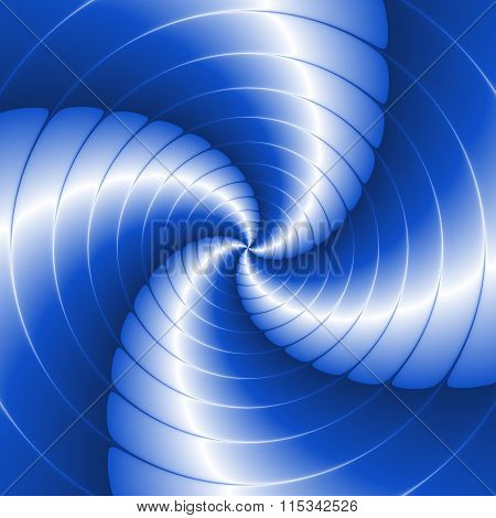 Abstract Spiral Background With Circles In Blue