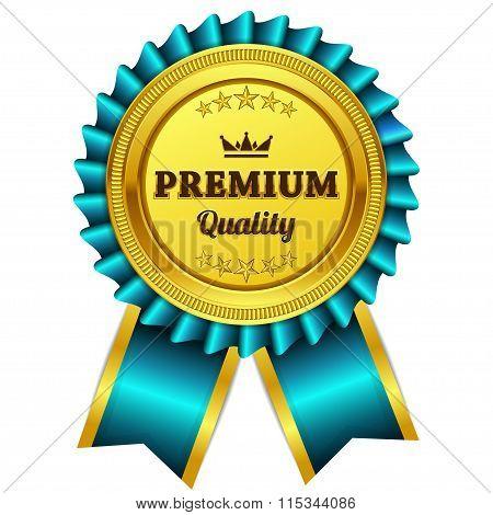 Premium Quality Blue Seal Vector Icon