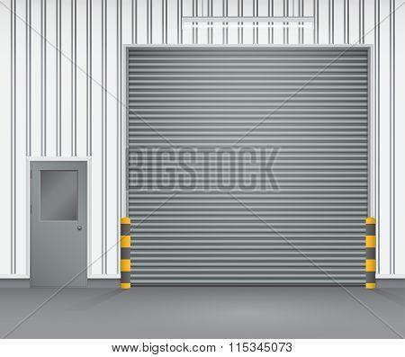 Shutter Door Vector