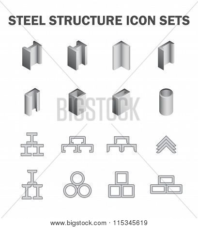 Steel Structure Icon