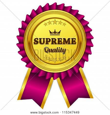 Supreme Quality Pink Seal Vector Icon