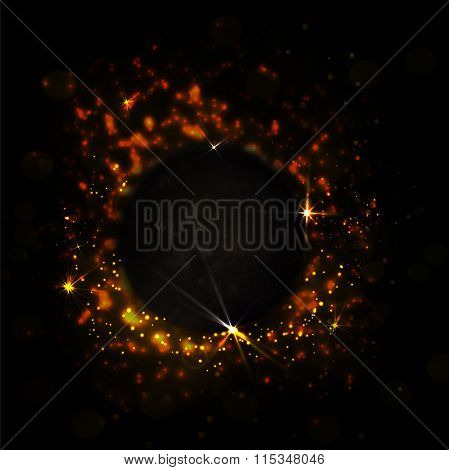 Abstract Dark Red Background With Fire And Sparks. Power Vector