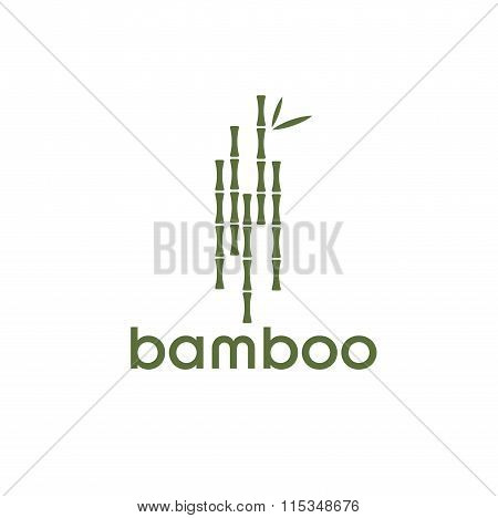 Green Bamboo Stems And Leaves