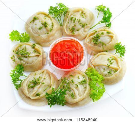 National Kazakh And Uzbek Cuisine - Manti
