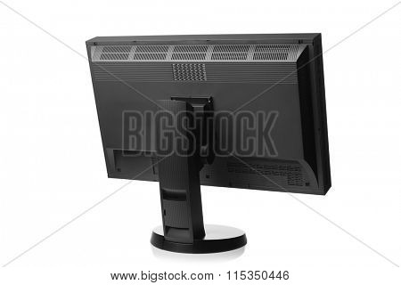 professional graphic monitor, rear view isolated on white