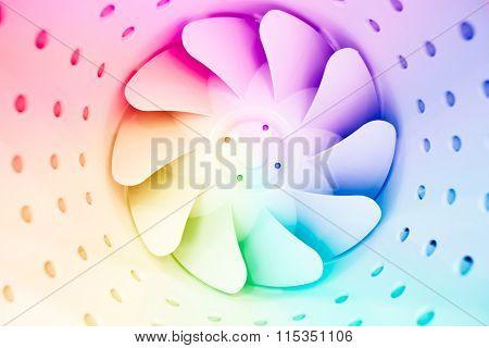 multicolor fan blades of ventilation system