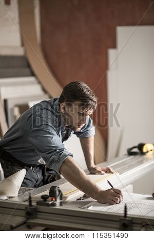 Carpenter Getting Ready For Work