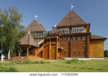 Recreated wooden palace of Tsar Alexei Mikhailovich Romanov in Kolomenskoye