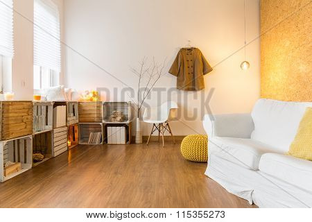 Spacious Cozy Living Room Perfect For Rest In Cold Day