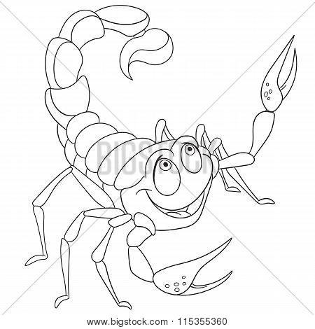 Cute Cartoon Scorpio