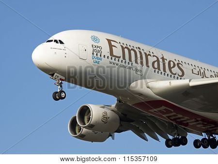 Airbus A380 From Emirates