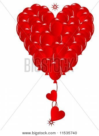 Valentines Balloon Heat of Love...