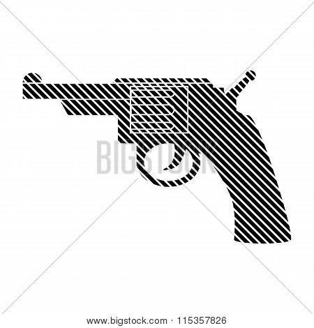 Revolver Sign On White.
